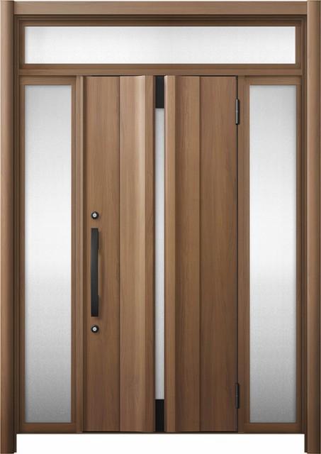 玄関ドア リシェント3 断熱 K4 G13型 両袖ランマ...