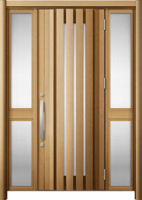 玄関ドア リシェント3 断熱 K2 G14型 両袖中桟付...