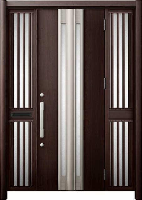 玄関ドア リシェント3 断熱 K4 G77型 両袖飾り中...