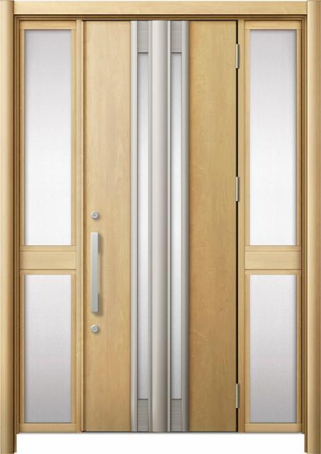 玄関ドア リシェント3 断熱 K4 G77型 両袖中桟付...
