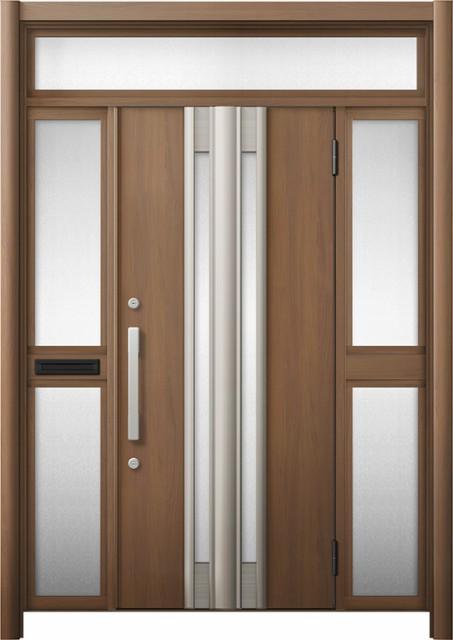 玄関ドア リシェント3 断熱 K4 G77型 両袖ランマ...