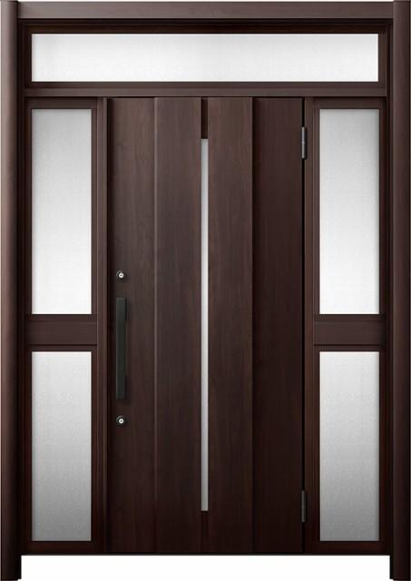 玄関ドア リシェント3 断熱 K4 M12型 両袖ランマ...