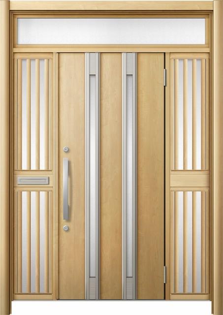玄関ドア リシェント3 断熱 K2 M24型 両袖ランマ...