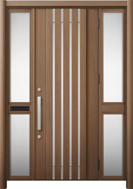 玄関ドア リシェント3 断熱 K4 M27型 両袖中桟付...