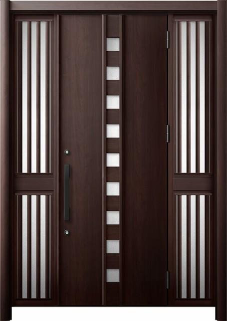 玄関ドア リシェント3 断熱 K4 M28型 両袖飾り中...