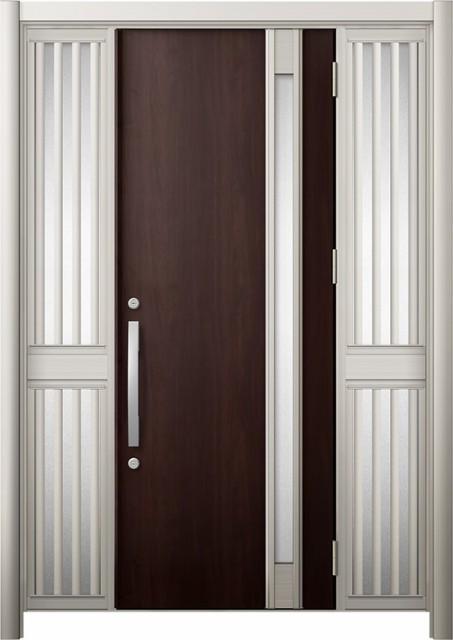 玄関ドア リシェント3 断熱 K4 M78型 両袖飾り中...