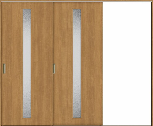 TA 室内引戸 Vレール方式 片引戸2枚建て 鍵なし D...