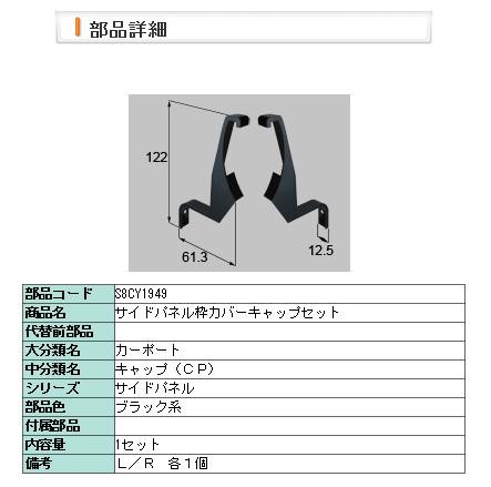 リクシル 部品 サイドパネル枠カバーキャップ s8c...