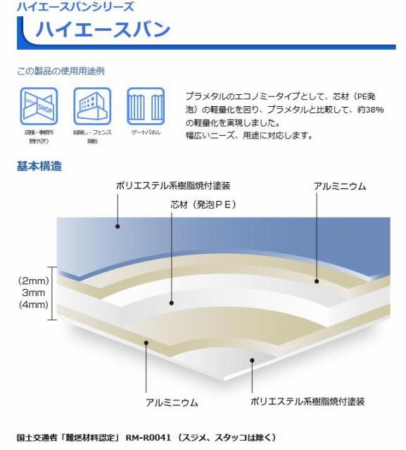 アルミ複合板 ハイエースバン 厚み:3mm 5枚 W:1...