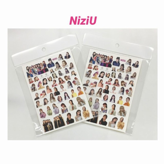 NiziU ニジュー 2枚セット 切れ目付き ミニ シー...