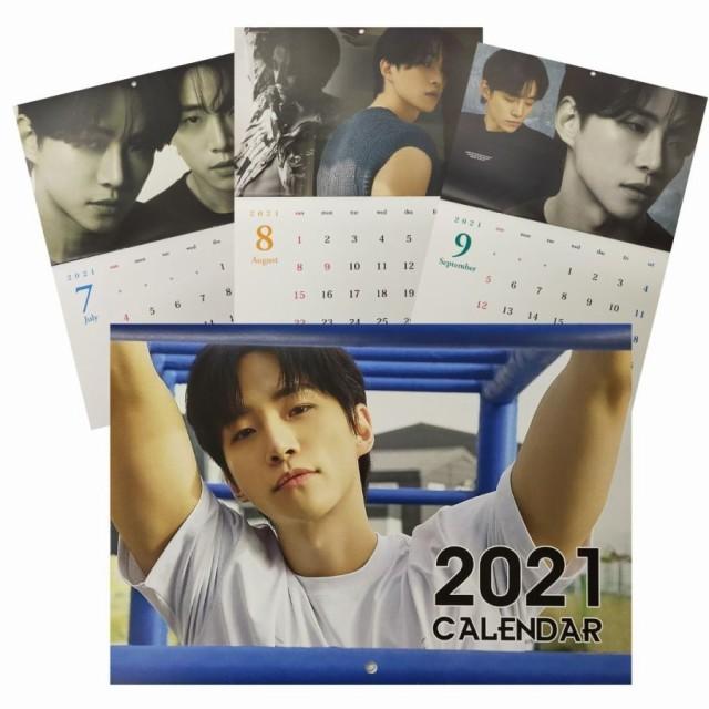 7月始まり 2021 ジュノ 2PM 壁掛け カレンダー 韓...
