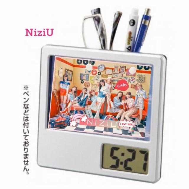 NiziU ニジュー 写真入り ペン立て付き 置き時計 ...