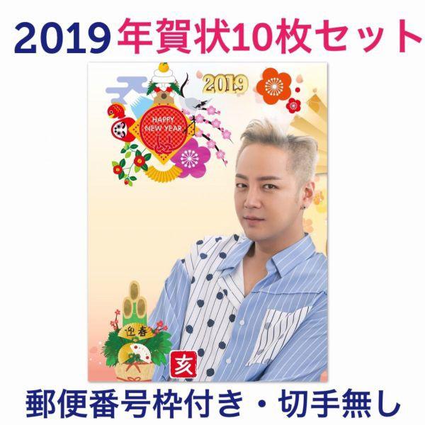 【送料無料】 2019 年賀状 10枚セット  チャン...