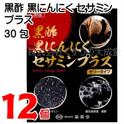 廣貫堂 黒酢黒にんにくセサミンプラス 15g30包 12...