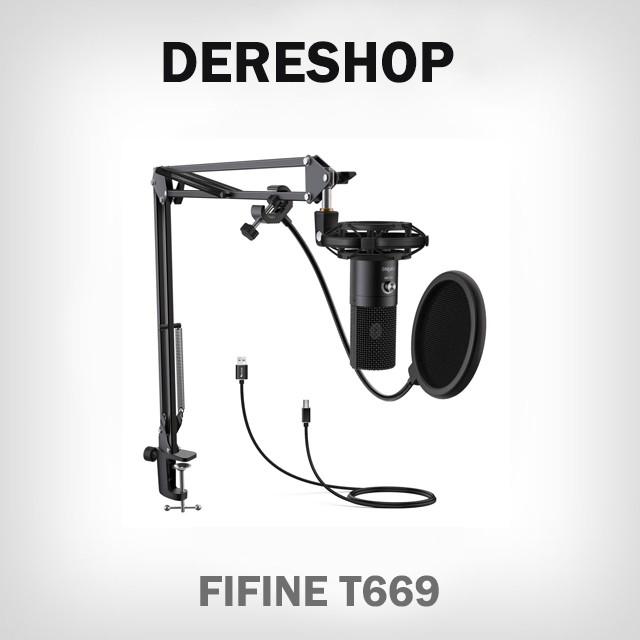 FIFINE T669 高音質 USBマイク コンデンサーマイ...