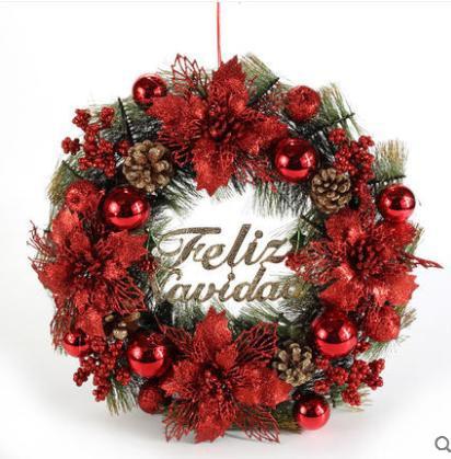 クリスマス リース おしゃれ 40cm 玄関 飾り 松ぼ...