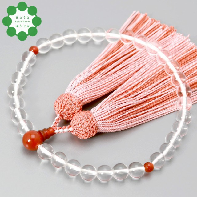 数珠 念珠 女性用 ブレスレット 京都宝珠 水晶玉 ...