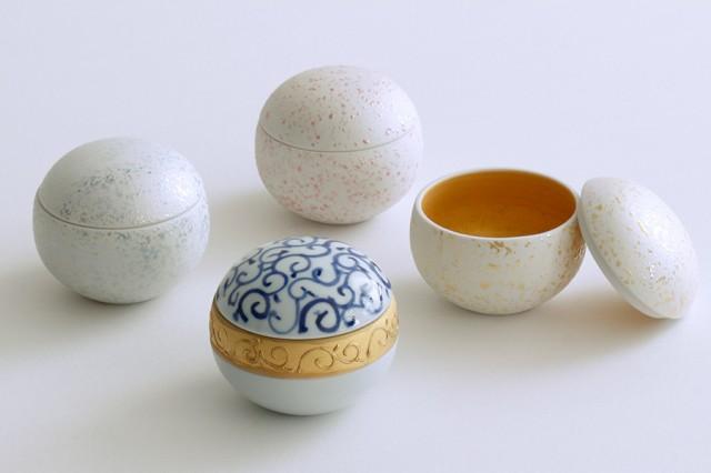 仏具 ミニ 骨壺 骨袋付き ■ 選べる4色  -しずく-...