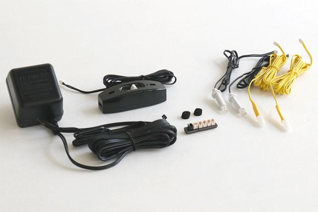 LED 電装セット 仏壇 灯籠 吊り 燈篭 輪灯 4灯 照...