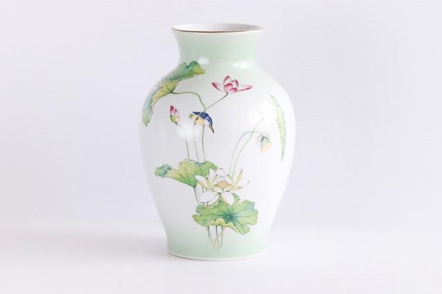 国産 陶器 ■ 上蓮 8寸 2本組 ■ 花瓶 ■ 仏壇 お...