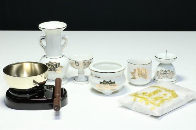 ■仏具■陶器 6点+おりん3点 セット モダン ミニ...