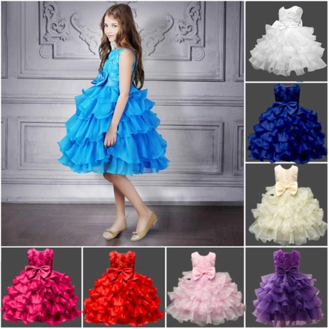 8色/70-150cm/子供用ドレス/マリンブルー/フォー...
