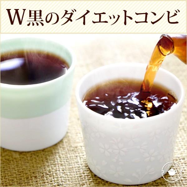 熟成発酵 W黒のダイエットコンビ 黒烏龍茶とプー...
