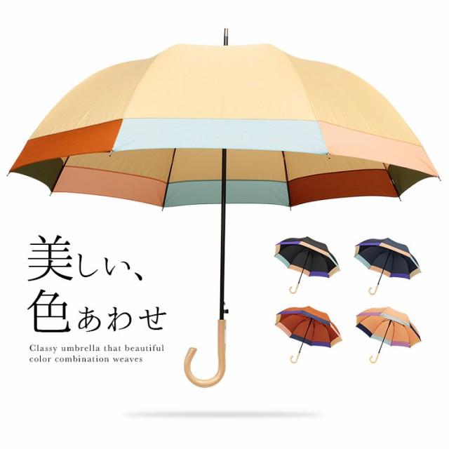 【60cm】傘 レディース 長傘 ワンタッチ ジャンプ...