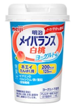 明治 メイバランス miniカップ 白桃ヨーグルト...