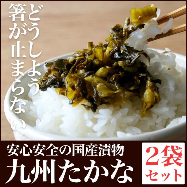 送料無料 九州高菜 2袋 ご飯のお供 ポイント消化 ...