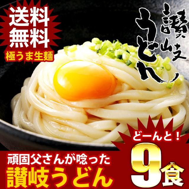 送料無料 讃岐生うどん 麺300g×3袋(9食) ポイント消化 お試し セール 期間限定 訳ありでない 食品 ギフトにも 福袋