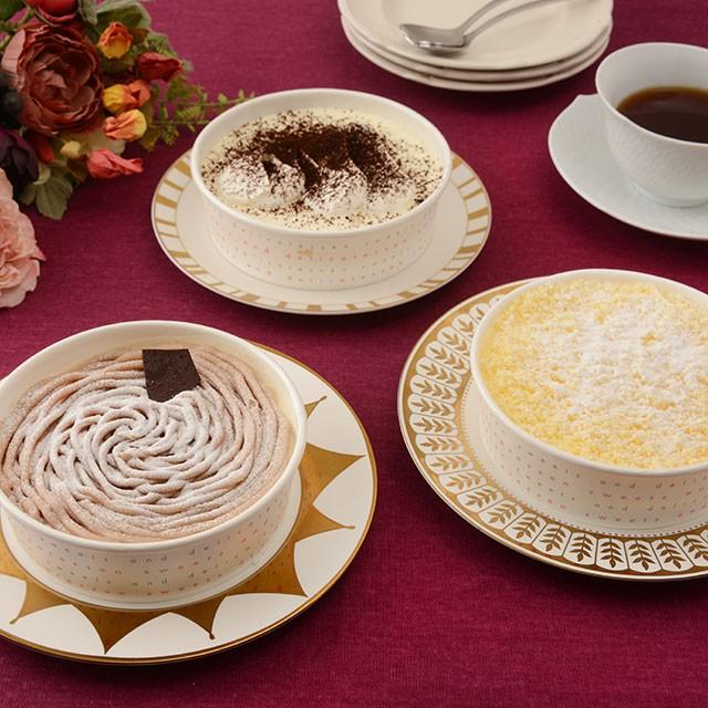 高輪「ダノイ」レストランのケーキ3種セット