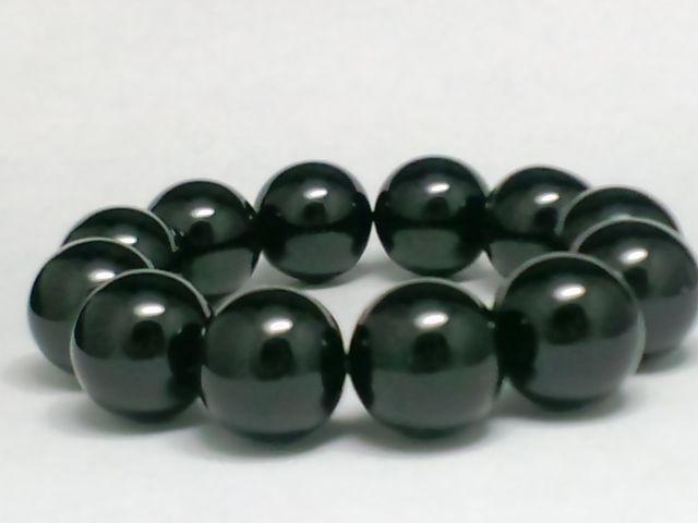 黒数珠◆天然ブラックオニキス黒瑪瑙18ミリ◆人気...