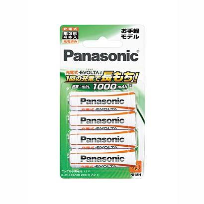 充電池 パナソニック 充電式エボルタ 単3形 4本パ...