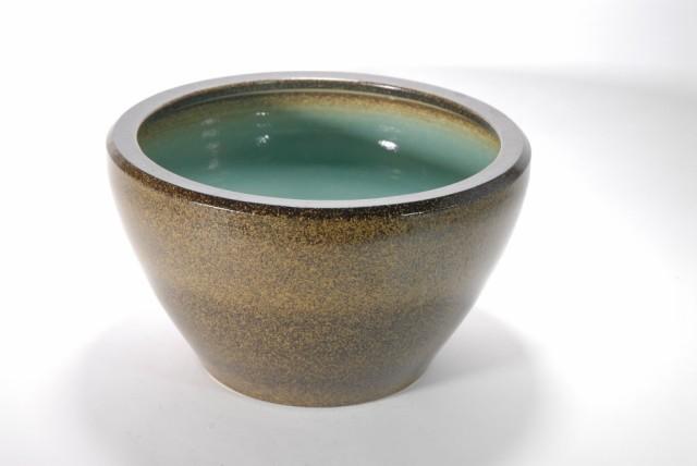 金ソバSA-6水鉢 15号  (信楽焼・陶器・水鉢・...
