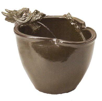 龍水流つくばい (信楽焼・陶器・つくばい)