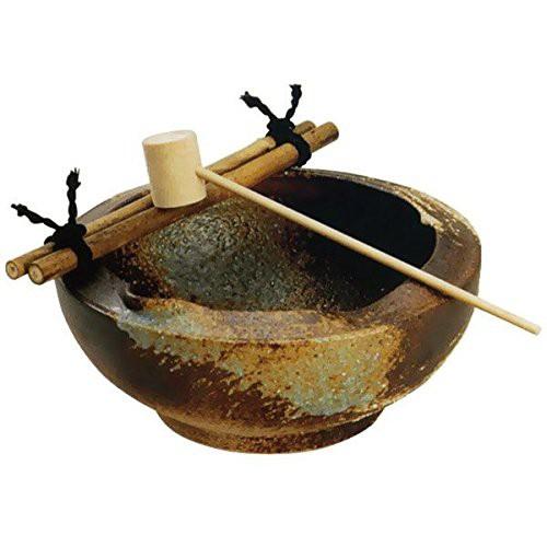 窯肌刷毛目つくばい(竹25cm) (信楽焼・陶器・...