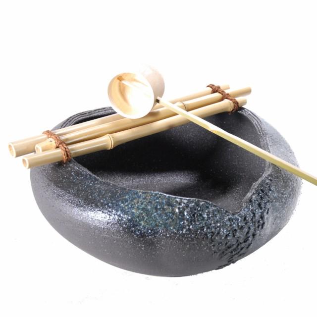 みかげ釉つくばい (信楽焼・陶器・つくばい)