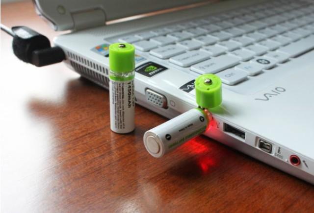 【送料無料】大容量単三型充電池2本 電池 乾電池 ...