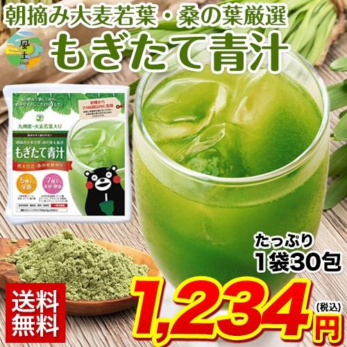 もぎたて 青汁 1袋30包 90g 送料無料 朝摘み 大麦...