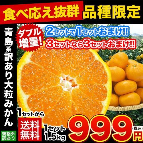 2セット購入で1セットおまけ★大粒みかん 1.5kg ...