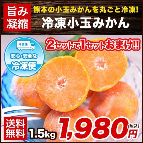熊本県産 小玉 冷凍みかん みかん 1.5kg 500g×3...