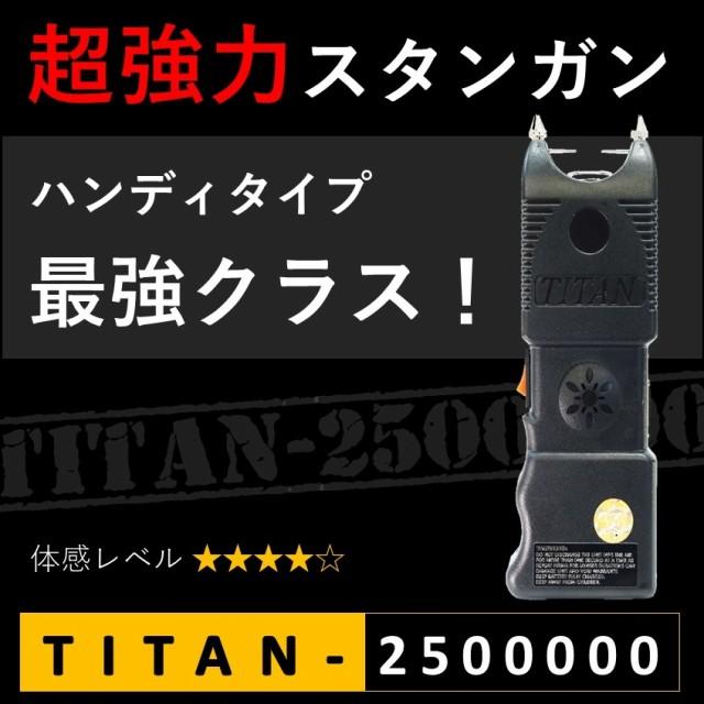 スタンガン TITAN-2500000 タイタン250万ボルト ...