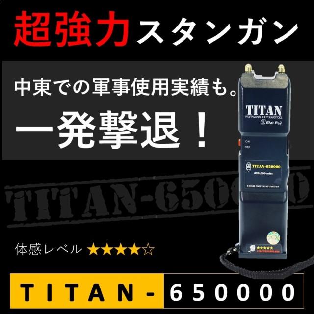 スタンガン TITAN-650000 タイタン 軍事使用実績 ...