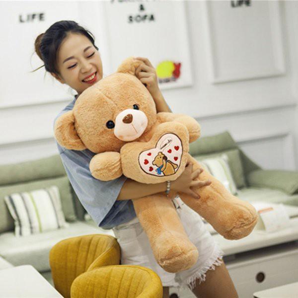 クマ ぬいぐるみ 特大 くま 心を抱く 可愛い 抱く...