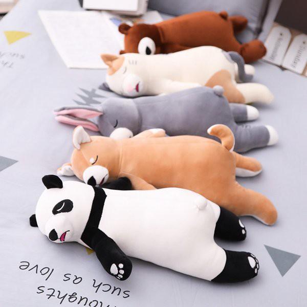 添い寝枕 抱き枕 軟体 柴犬 パンダ うさぎ 熊 ネ...