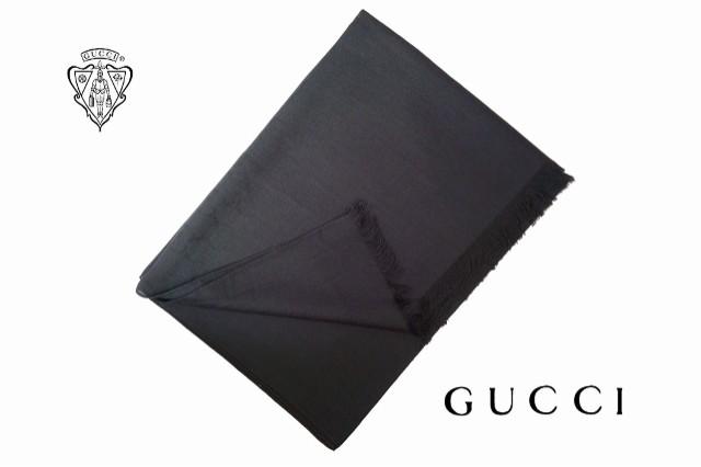 GUCCI 定番人気 GG柄 ストール ★ ブラック