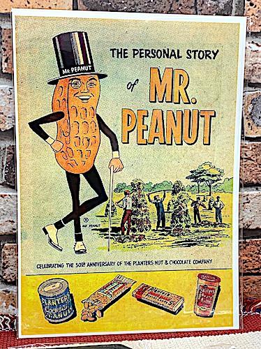 アメリカン雑貨 台紙付きポスター MR.PEANUT ミス...