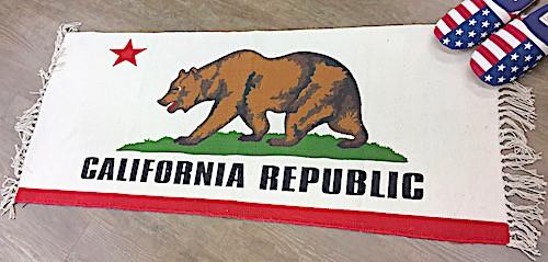 アメリカン雑貨 コットンキッチンマット CALIFORN...