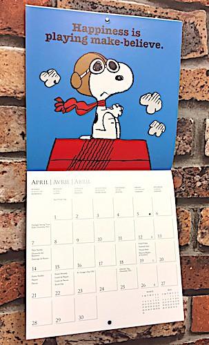 アメリカン雑貨 2019カレンダー SNOOPY スヌーピ...